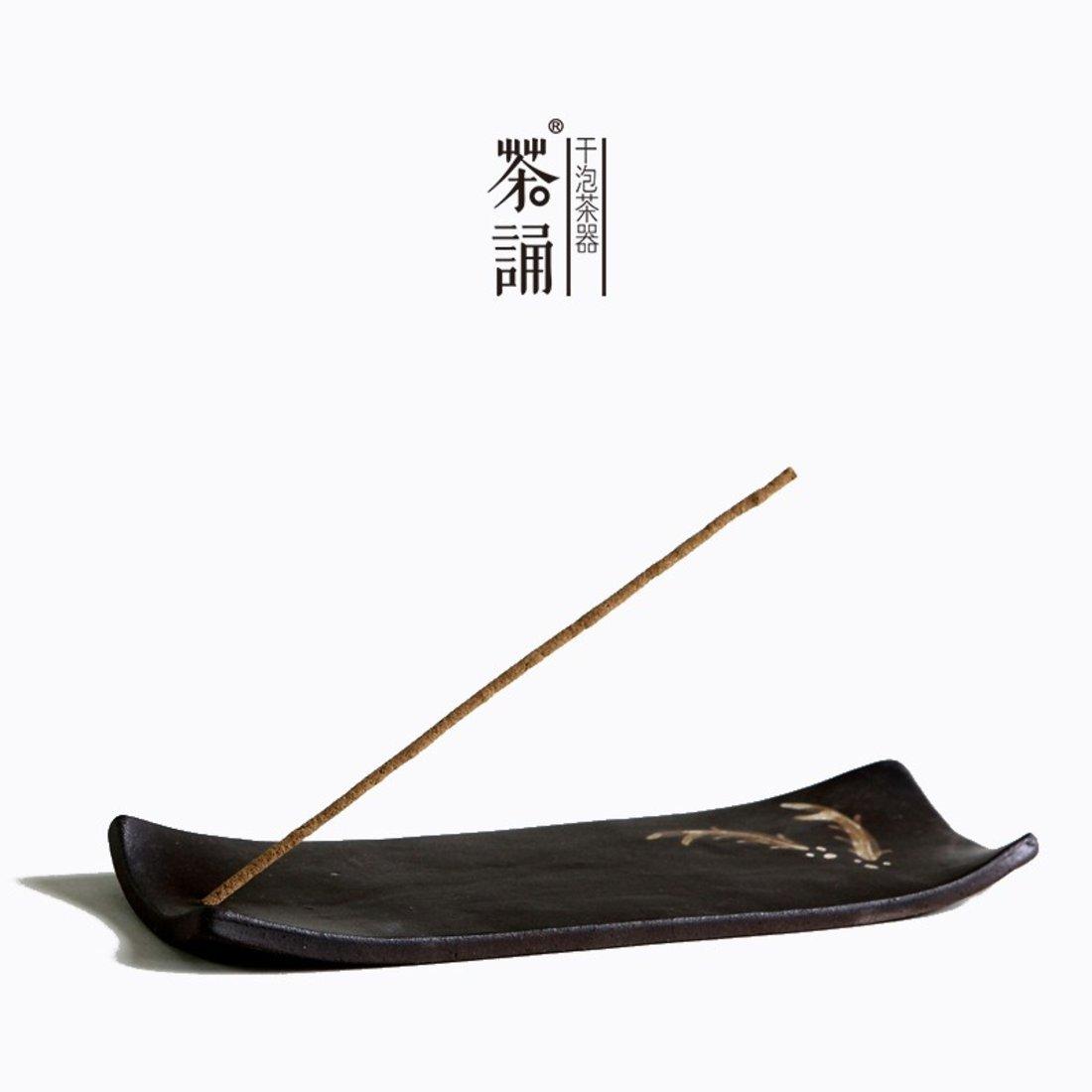 「粗陶香插 」手工陶瓷香台