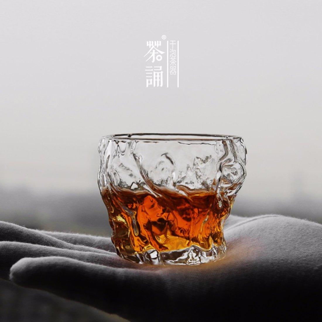 「树桩杯」透明玻璃公道杯
