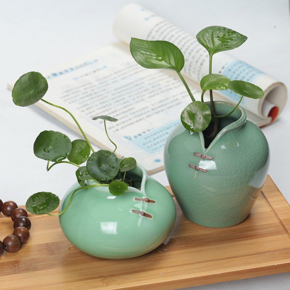 「旗袍花器」青瓷水培花插