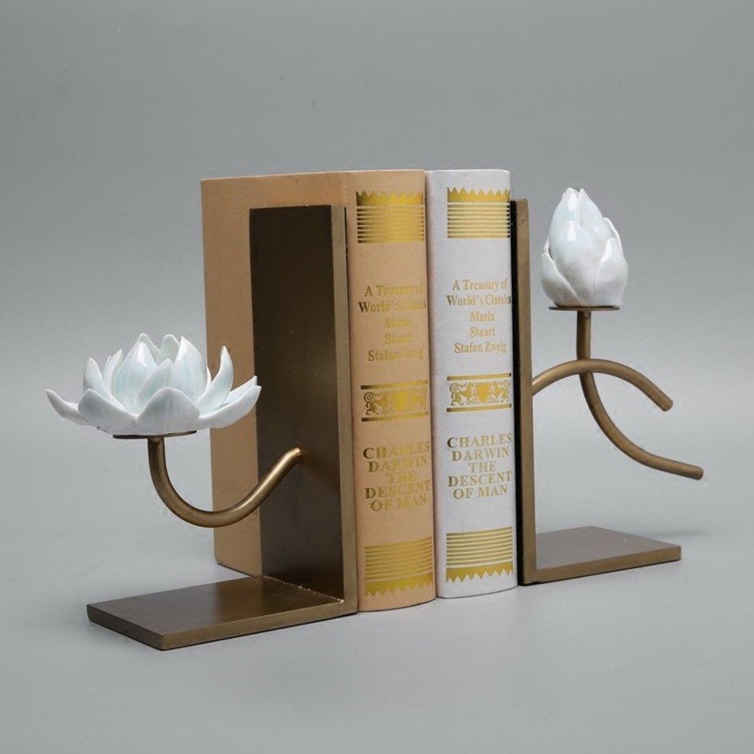 「新中式书挡」客厅书房书靠摆件