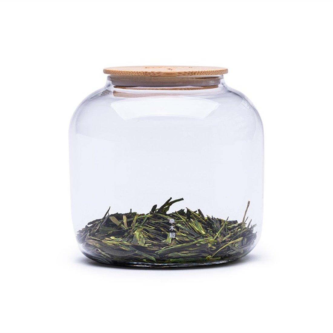 「茶叶罐」大号透明玻璃收纳罐