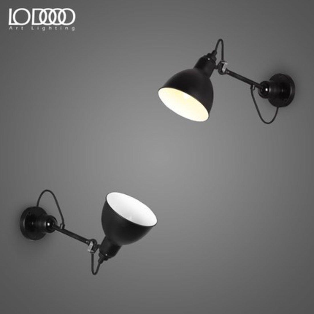 「复古工业loft壁灯」现代简约可旋转墙灯