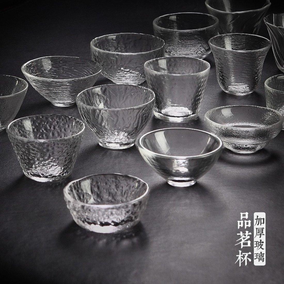 「品茗杯」锤纹玻璃茶杯