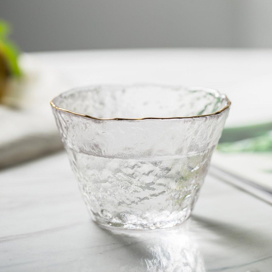 大白菜 锤目纹玻璃茶杯