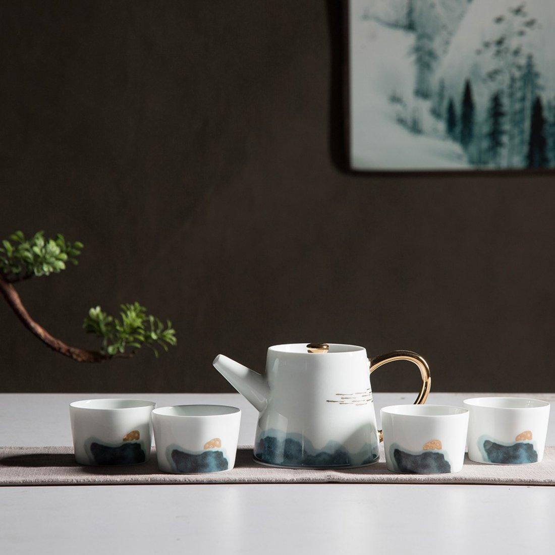 悠游系列 茶具 (一壶四杯)高温陶瓷 中式茶具套装