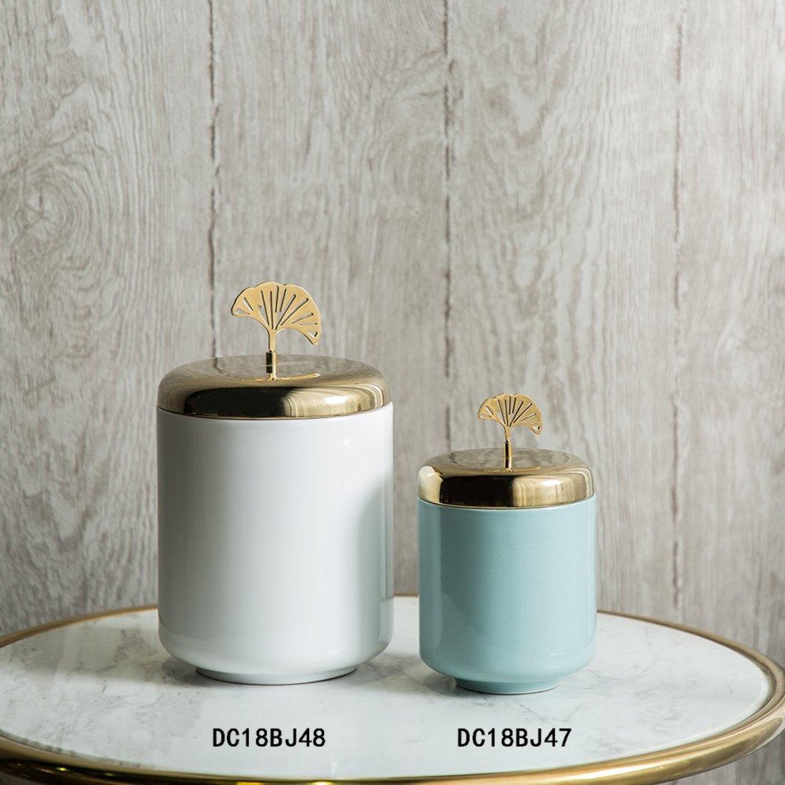 银杏韵 储物罐 陶瓷材质 桌面储物罐摆件 家居软装