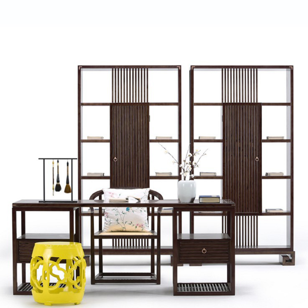 新中式白蜡木书桌