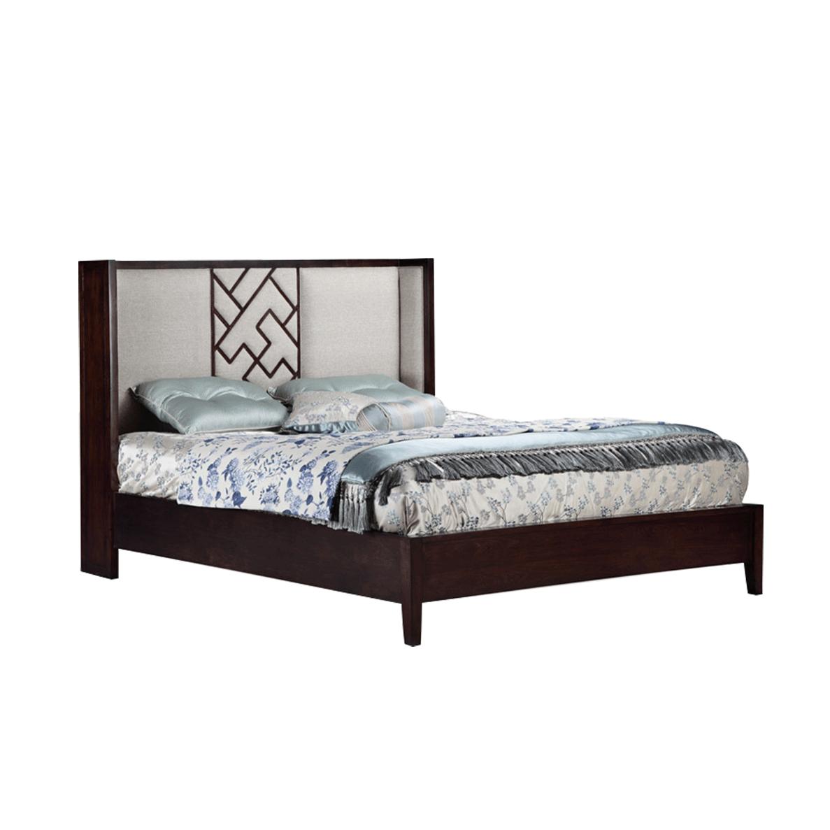 新中式榉木风格床