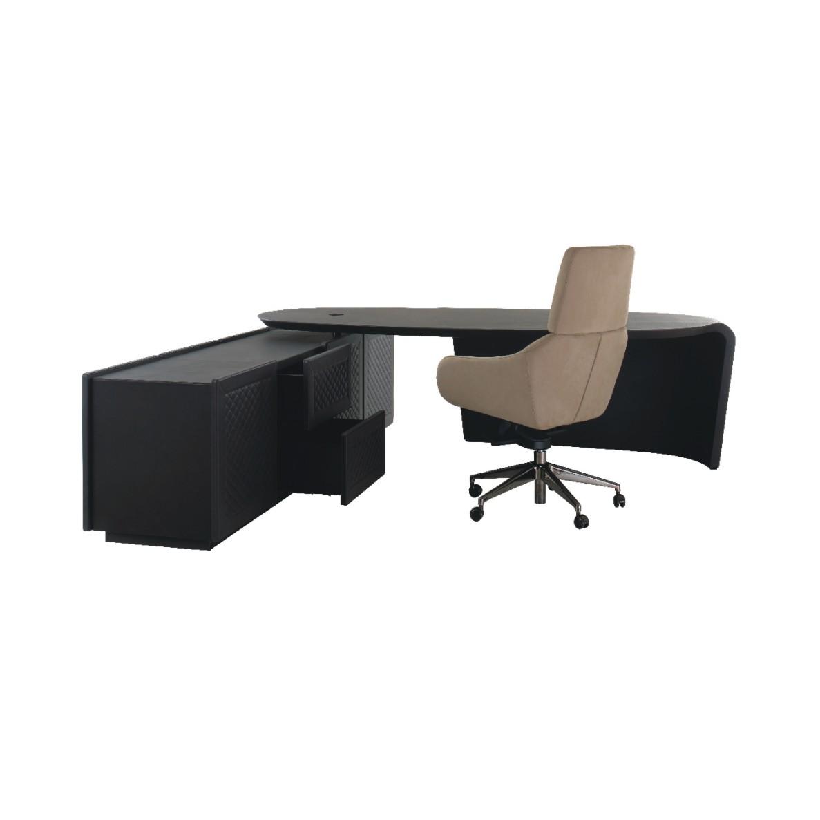 轻奢榉木红樟木书桌