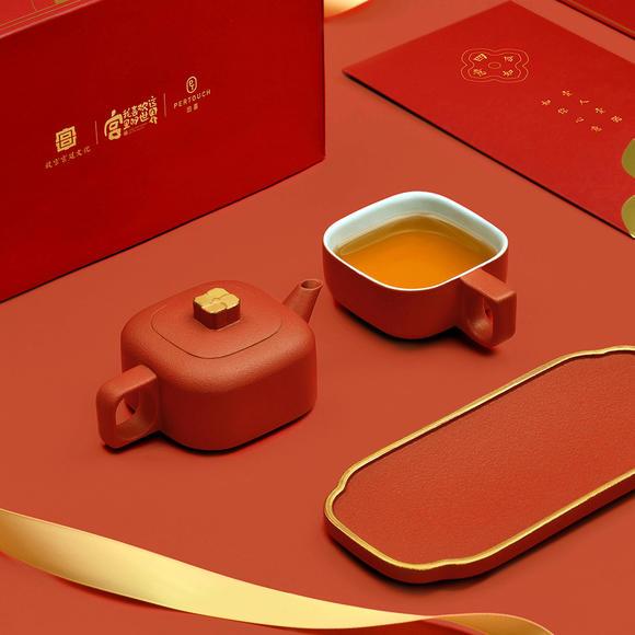 【茶具礼盒】故宫文化 | 四合如意 一壶一杯私享茶器