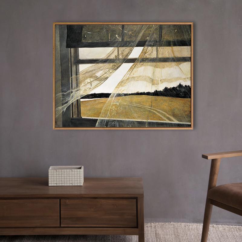 使徒家居丨世界名画装饰画 海边的风-安德鲁怀斯