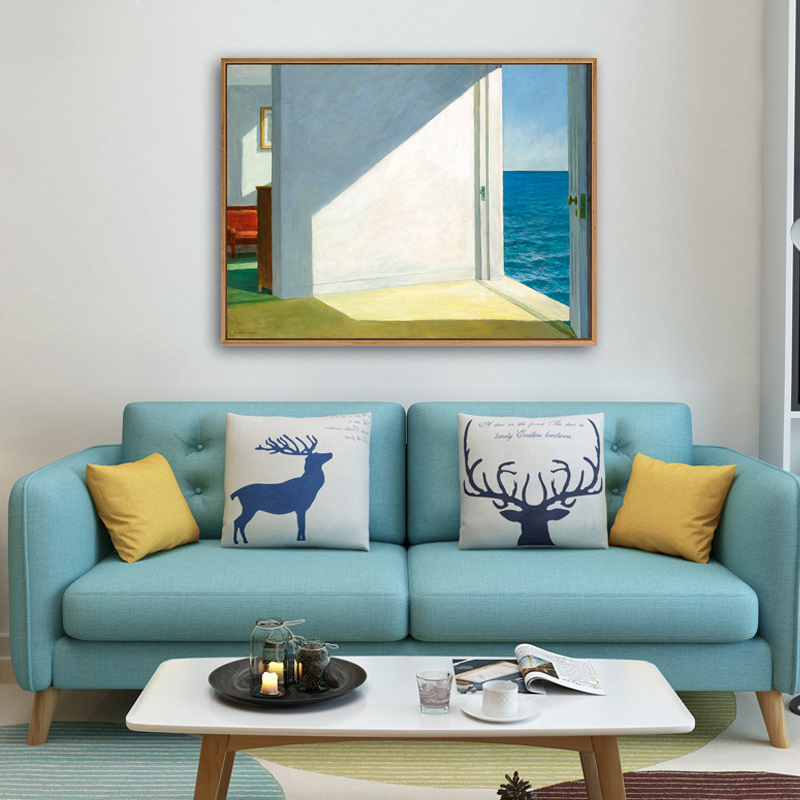 使徒家居丨世界名画装饰画 海边的房子-霍普