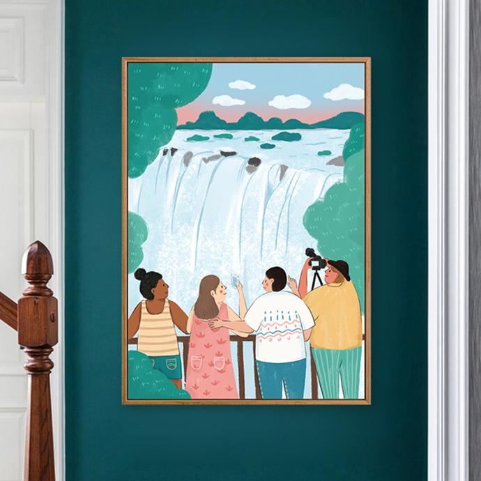 使徒家居丨原创装饰画 利文斯顿的假期-金香玉