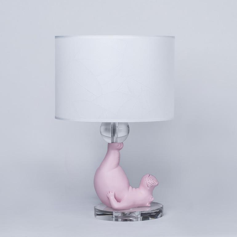 豆蔻年华 台灯  家居软装饰品  家居用品 树脂材质  河马动物造型台灯 儿童房  创意摆件
