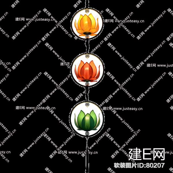 新中式莲花吊灯